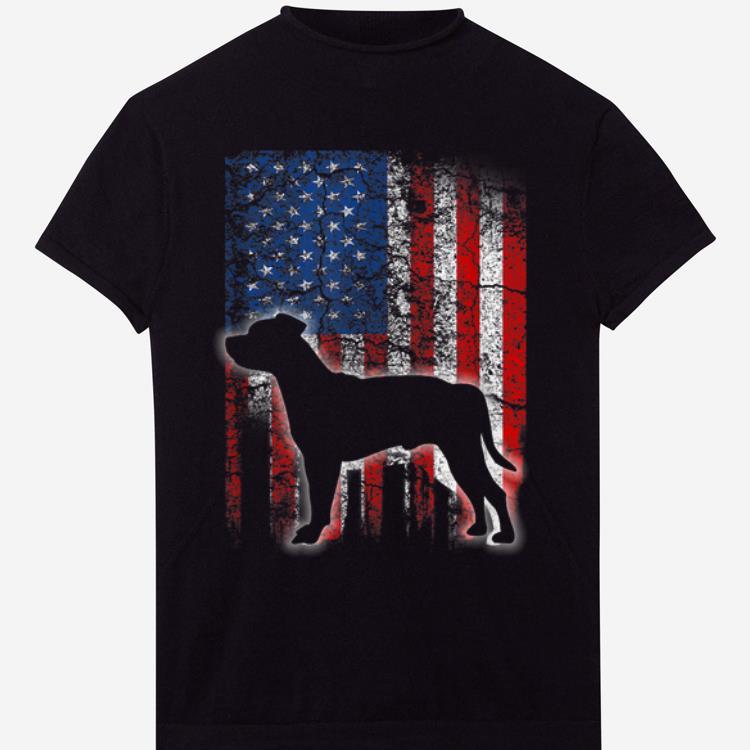 American Flag Staffordshire Bull Terrier Dog Lovers shirt