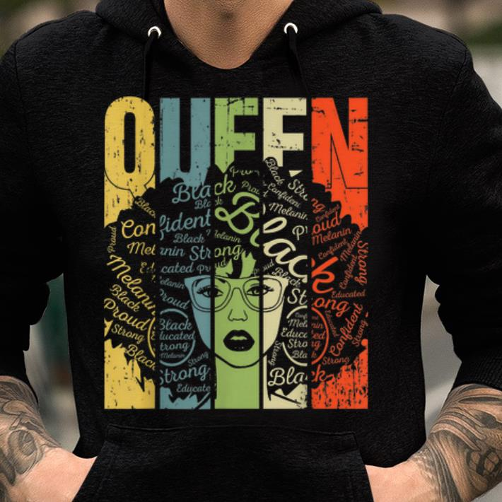 Awesome African American For Educated Strong Black Queen shirt