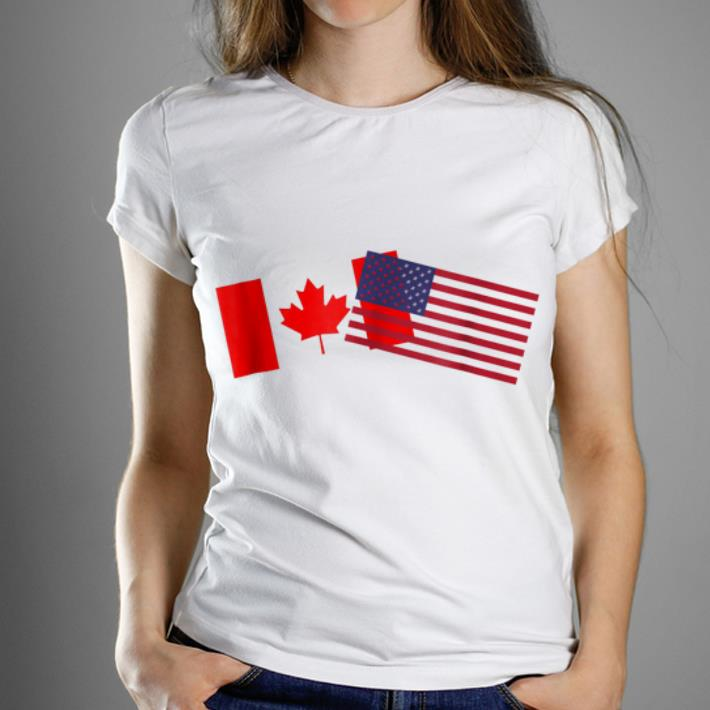 Awesome American Canadian Flags Happy Independence Day And Canada Day shirt