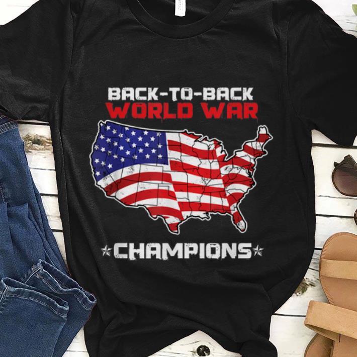Best price Black To Black World War Champions Maps American Flag shirt