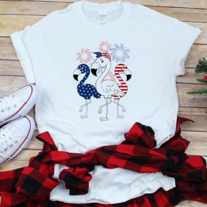 Flamingo American Flag Hapyy Independence Day shirt