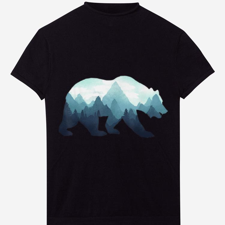 Hot Bear Double Exposure Surreal Wildlife Animal shirt