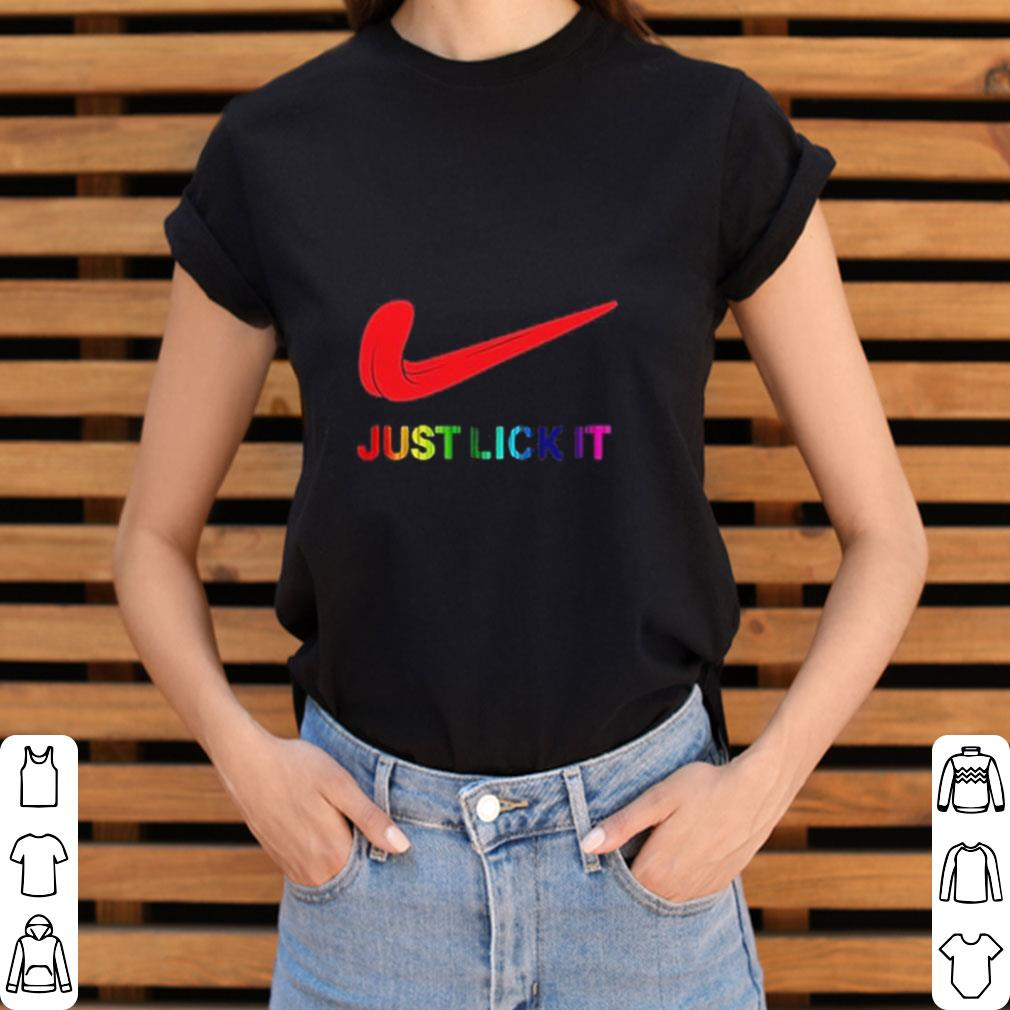 Official LGBT Nike just lick it shirt