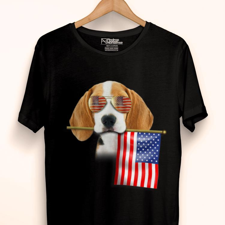 Original 4th Of July Fun American Flag Beagle Dog Lover Gift shirt