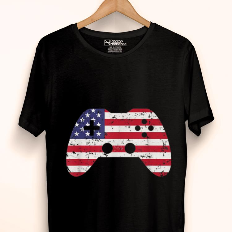 Original 4th Of July Usa Flag Video Game Gamer Kids Boys Gift Shirt