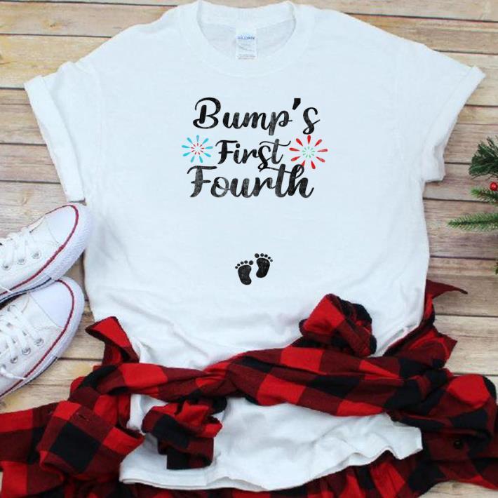 77d365a423fee Original Bump's First Fourth 4th Of July Pregnancy Announcement shirt