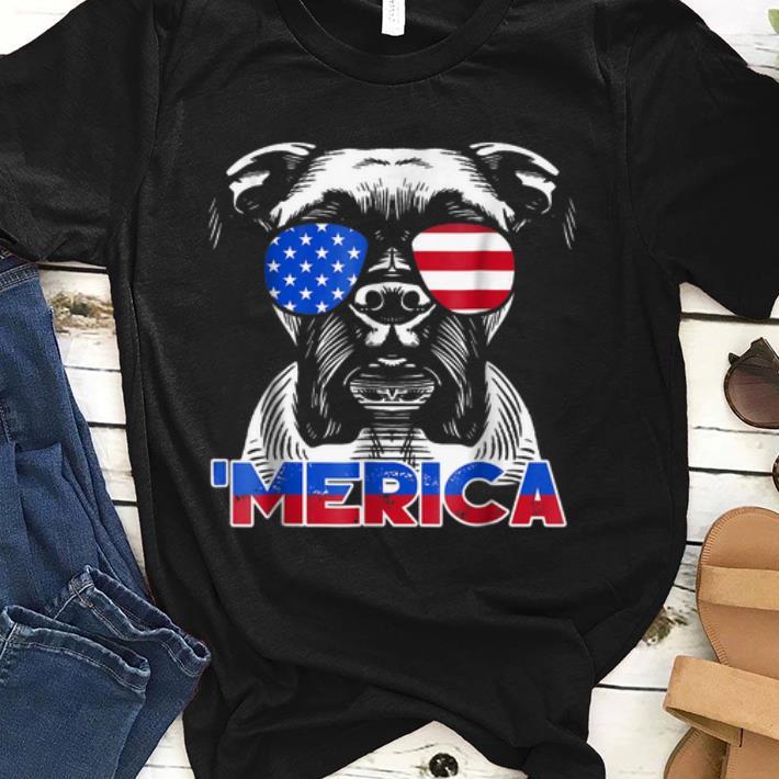 Patriot Boxer Dog 'merica Tee shirt