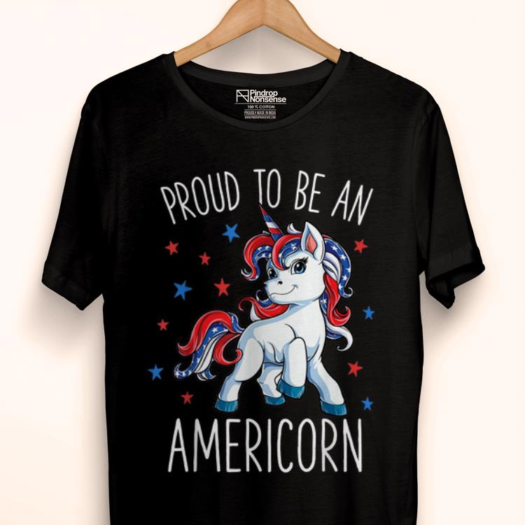Premium Americorn Unicorn 4th Of July Girls Mericorn Merica shirt