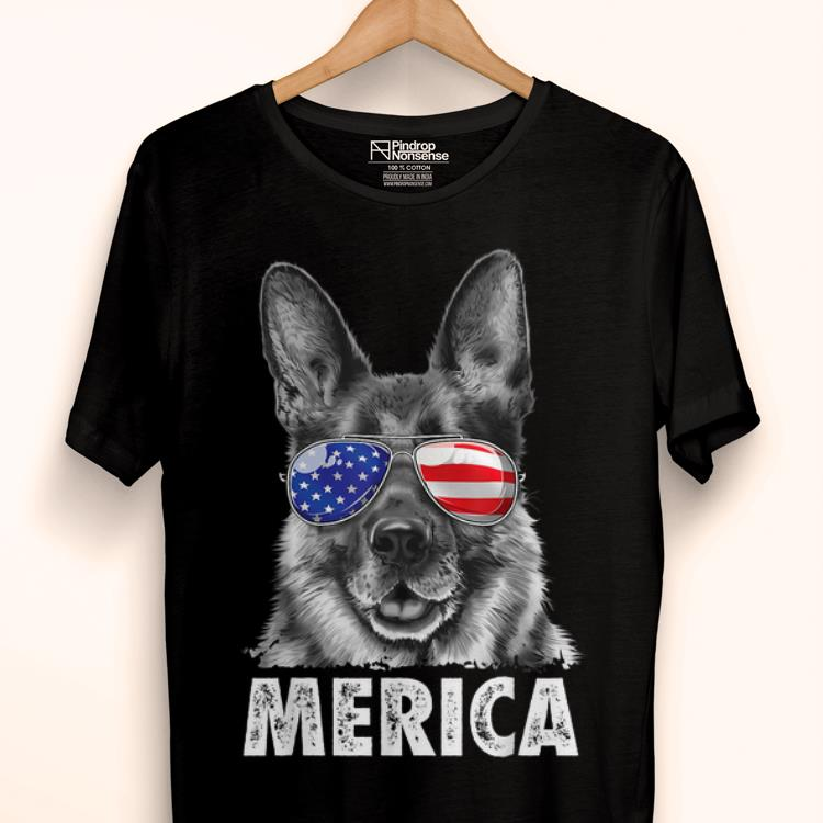 Premium German Shepherd 4th Of July Merica Men Usa Flag Gift Shirt