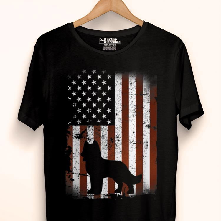 Premium Siberian Husky American Flag Dog 4th Of July Dogs Shirt