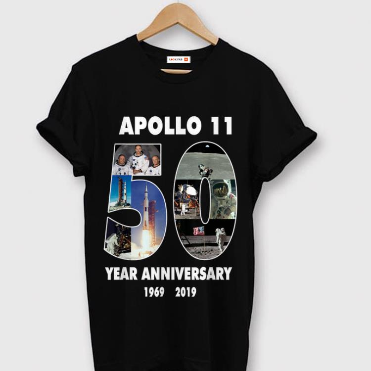 Awesome Apollo 11 50th Anniversary Moon Landing in Pictures Space shirt