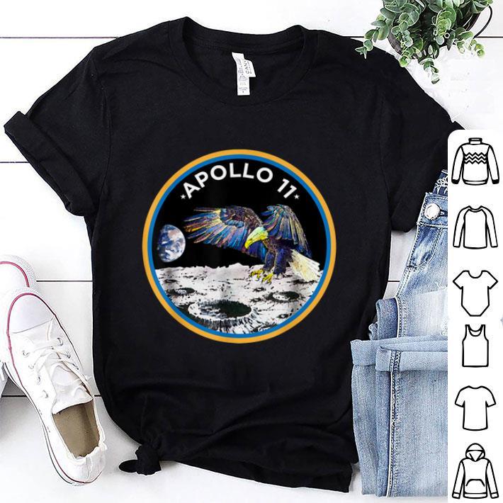 Awesome Apollo 11 NASA Moon Landing Astronaut Eagle Logo First Step On The Moon shirt