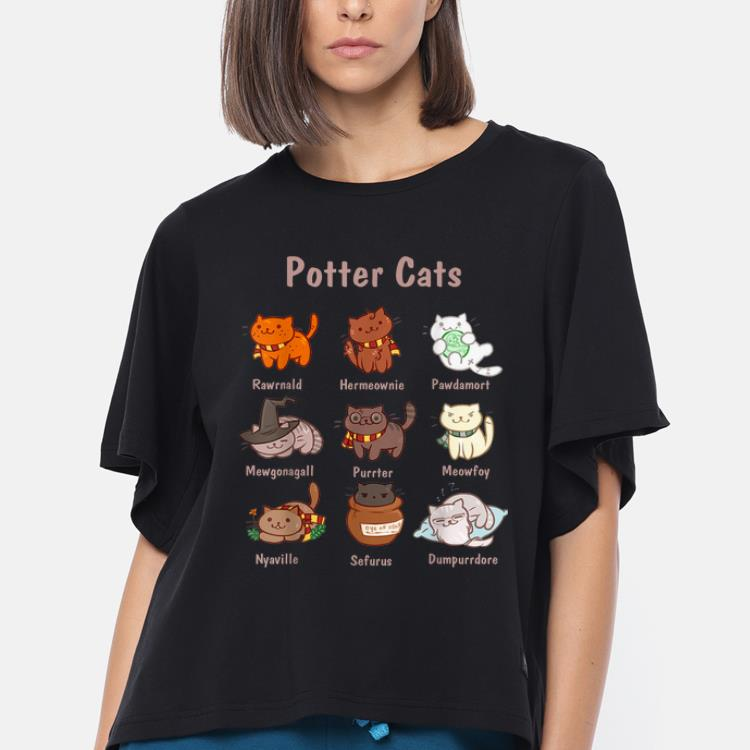 Awesome Potter Cats Harry Potter And Cat - Cat Lovers shirt