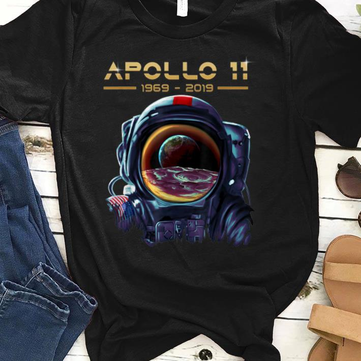 Hot Apollo 11 Astronaut with Earth Reflection Moon Landing 1969 shirt
