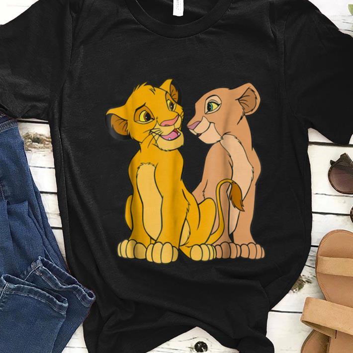 Hot Disney The Lion King Young Simba and Nala Together shirt