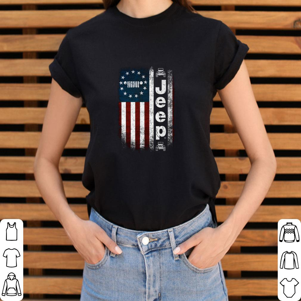 Hot Jeep Betsy Ross flag shirt