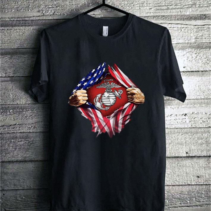 Hot United States Marine Corps American flag shirt