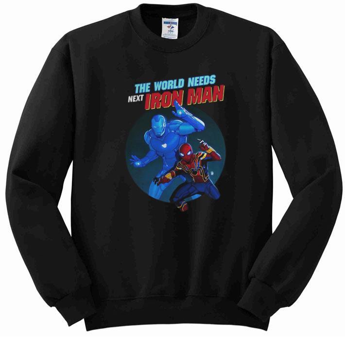 Official Spider Man The World Needs Next Iron Man Marvel shirt