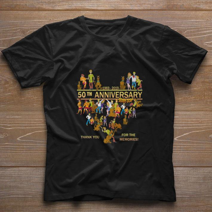 Original 50th anniversary Scooby-Doo 1969-2019 thank you for the memories shirt