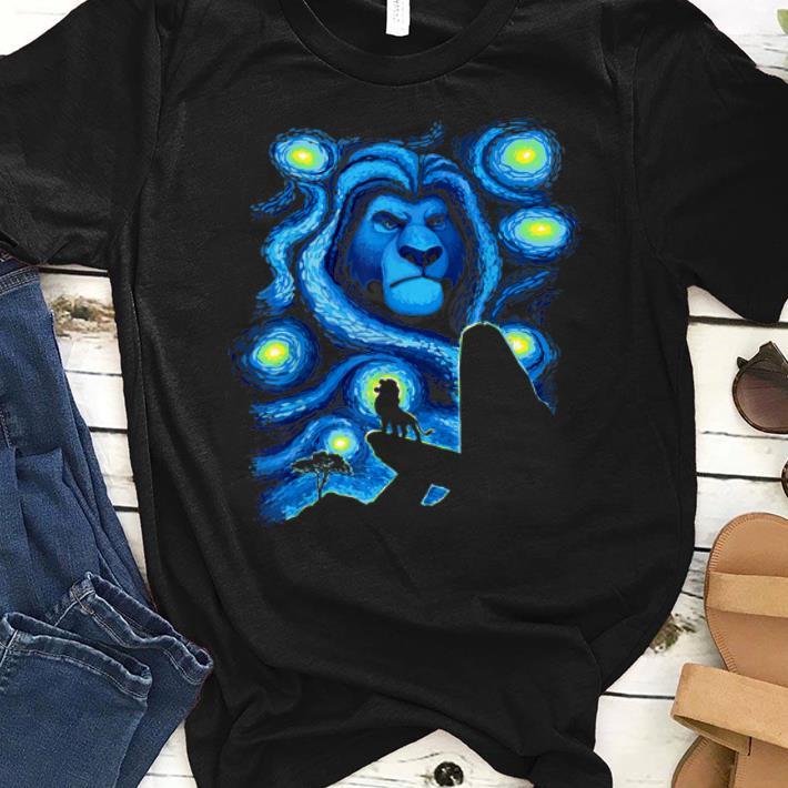 Premium Disney Lion King Mufasa Starry Night Pride Rock shirt