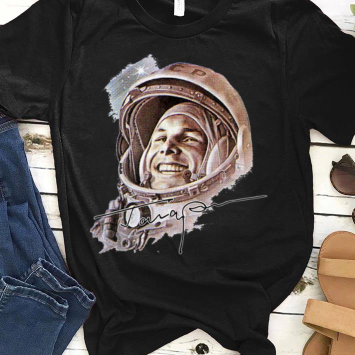 Premium USSR Astronaut Yuri Gagarin The First Human To Journey Into Outer Space shirt