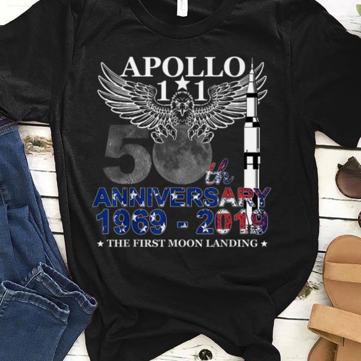 Pretty Apollo 11 50th Anniversary Moon Landing July 20 1969-2019 shirt