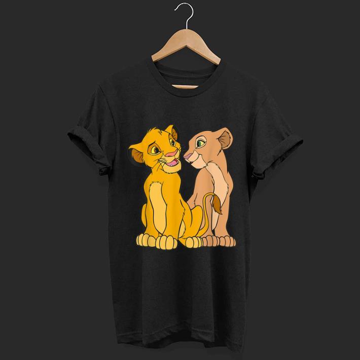Pretty Disney The Lion King Young Simba And Nala Together shirt