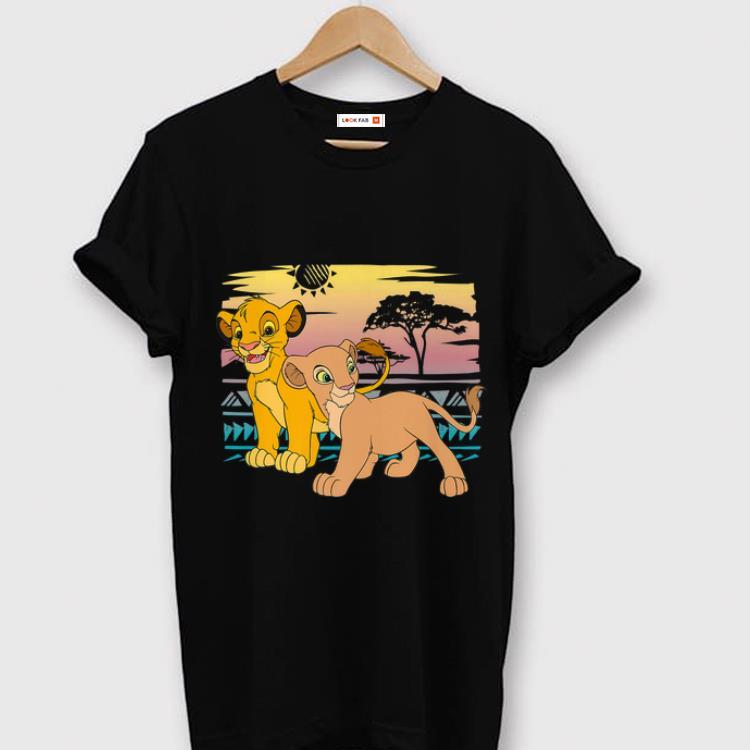 Pretty Disney The Lion King Young Simba Nala Sunset View shirt