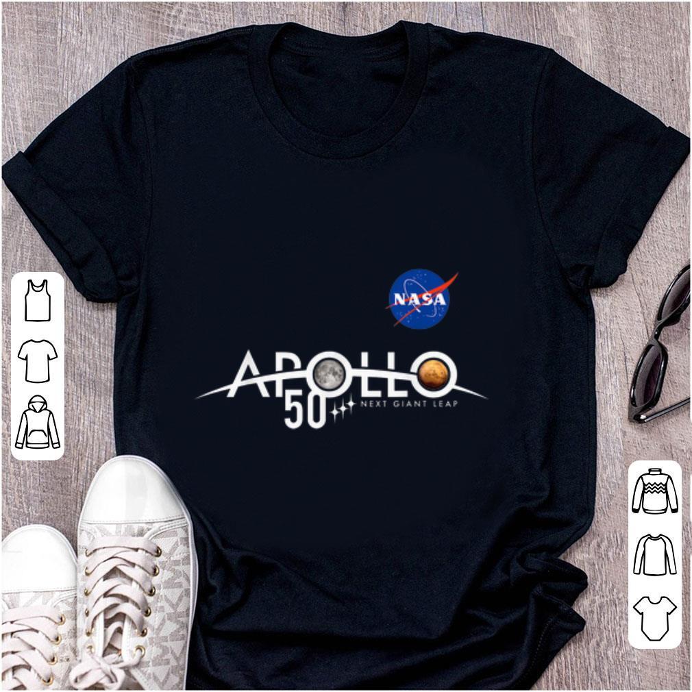 Top Apollo 11 50th Anniversary Logo Nasa Space Moon And Mars shirt