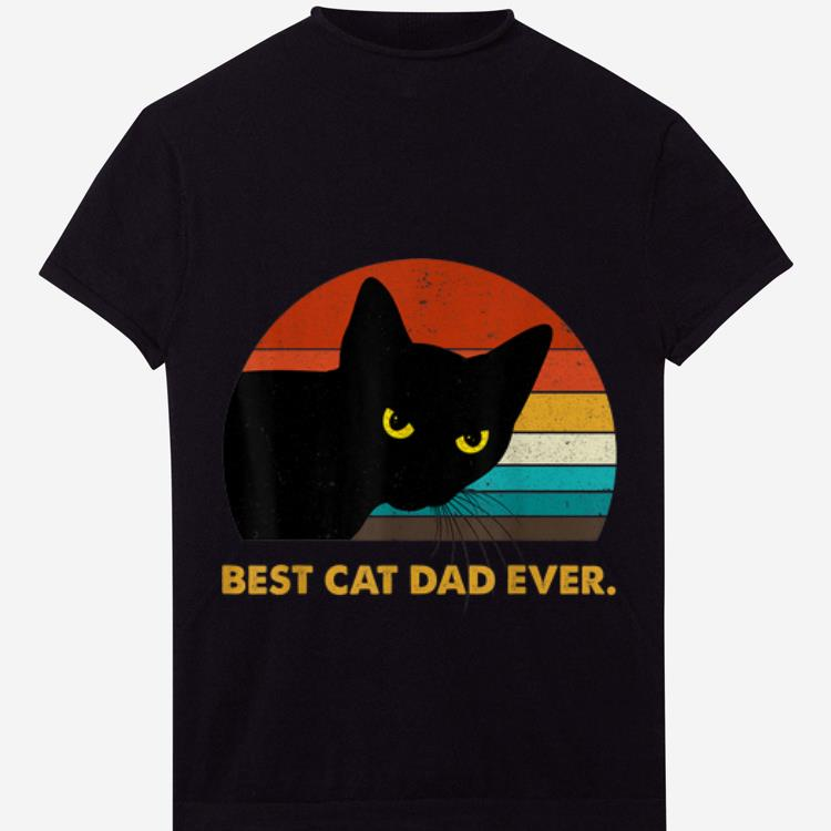 Awesome Best Cat Dad Ever Vintage shirt