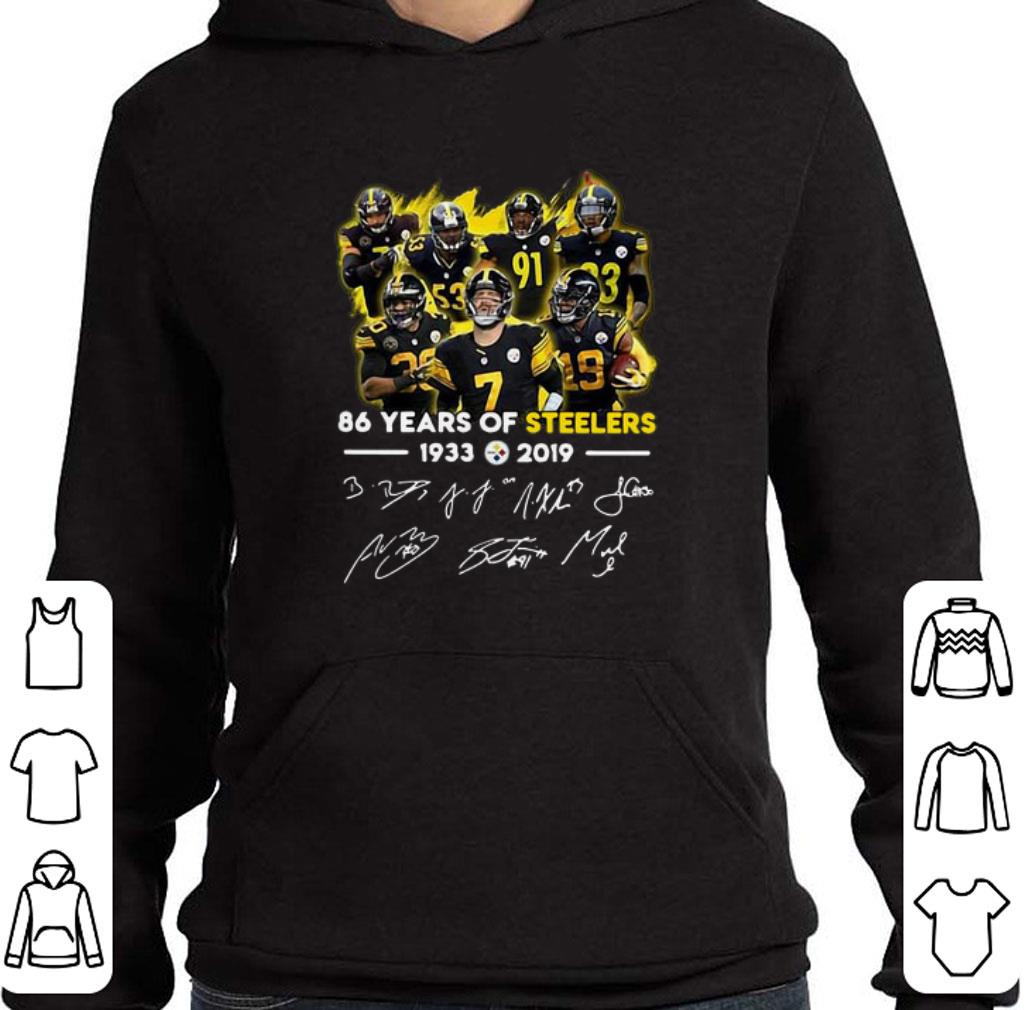 Funny 86 Years of Steelers 1933-2019 signatures shirt