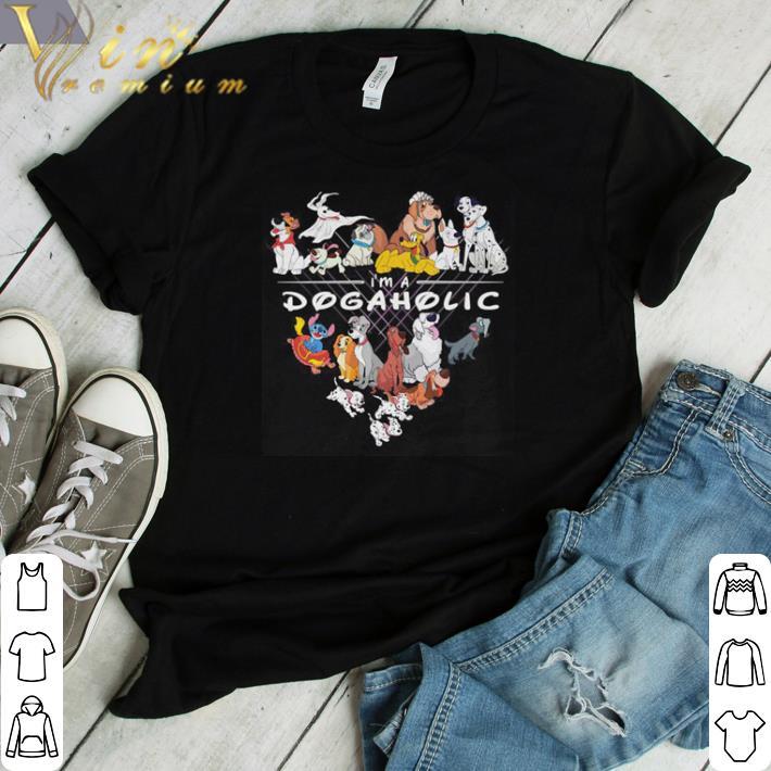 Funny Disney dogs I'm dogaholic shirt