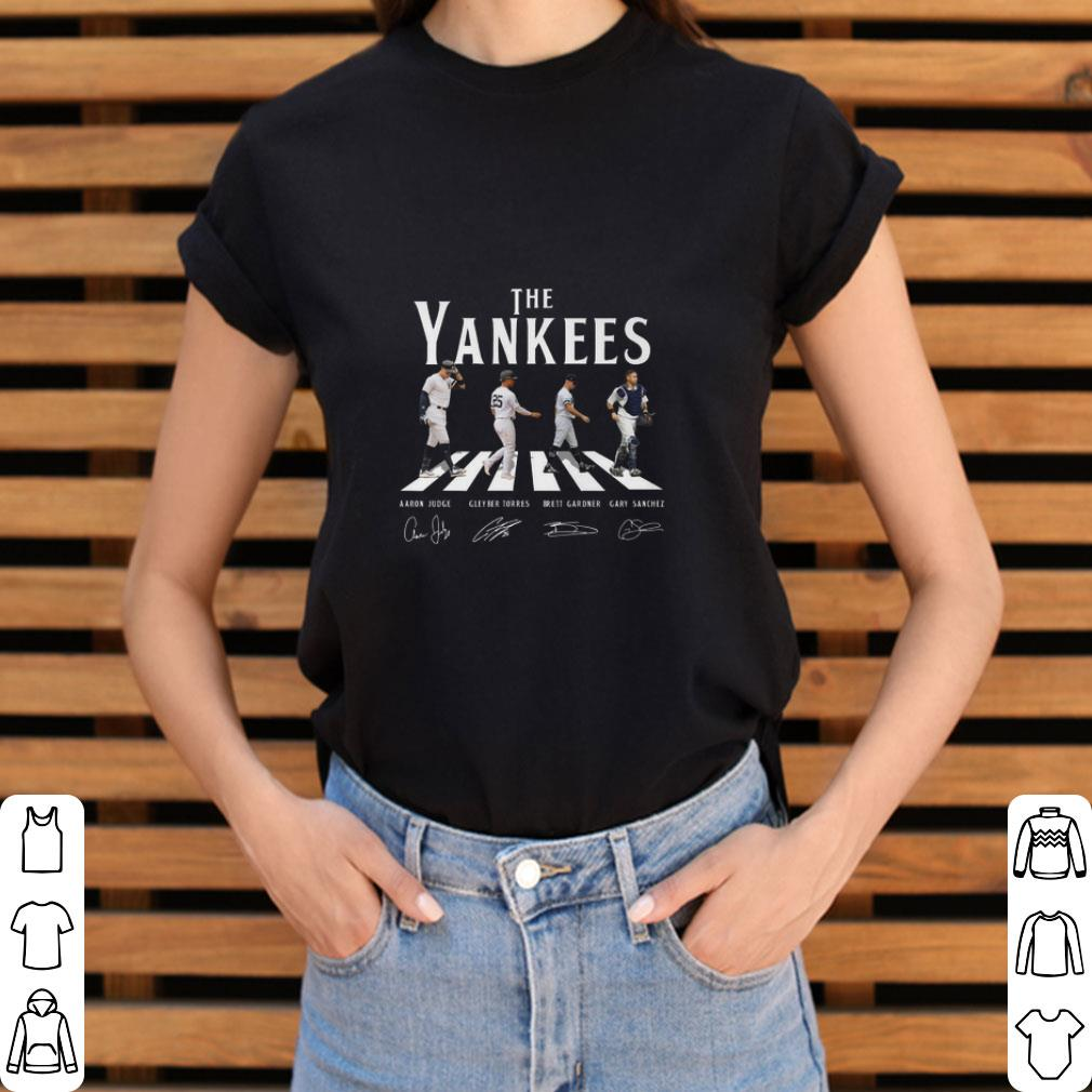 detailing 43c16 4825f Funny The Yankees Abbey Road Signatures New York Yankees shirt
