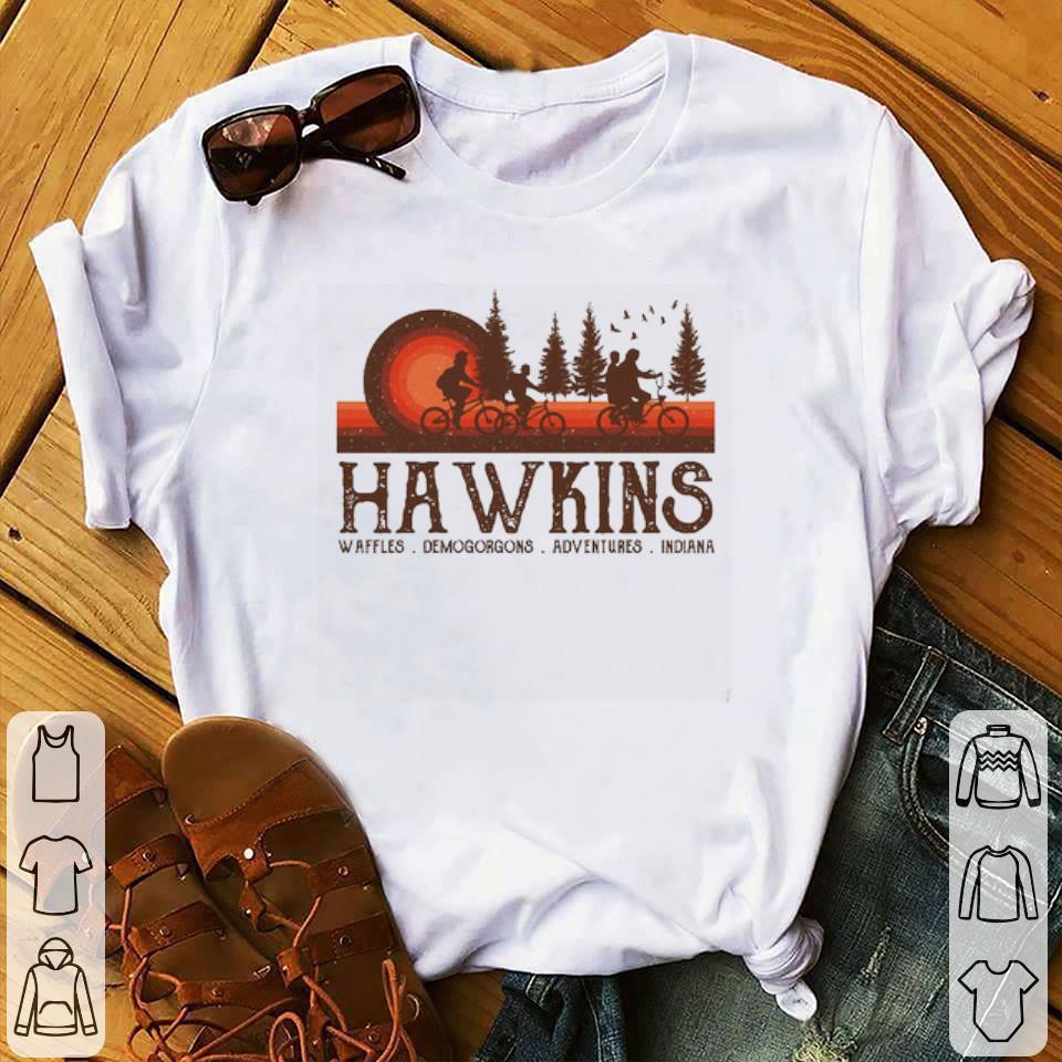 Hawkins Waffles Demogorgons Adventures Indiana Stranger Things shirt