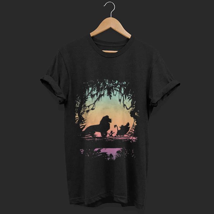 Nice Disney Lion King Gradient Jungle Trio Graphic shirt