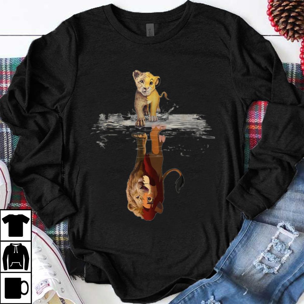 Premium Disney Simba Lion King water mirror reflection Mufasa shirt