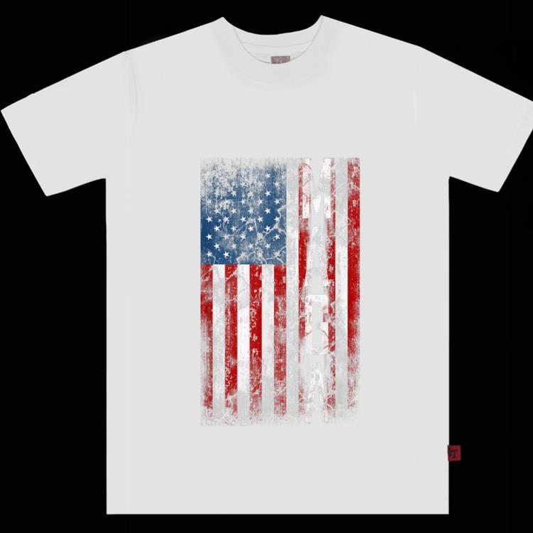 Premium Grunge MAGA American Flag shirt