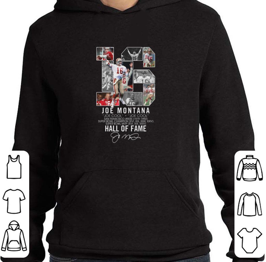 af42a43c Pretty 16 Joe Montana Joe cool San Francisco 49ers signature shirt ...