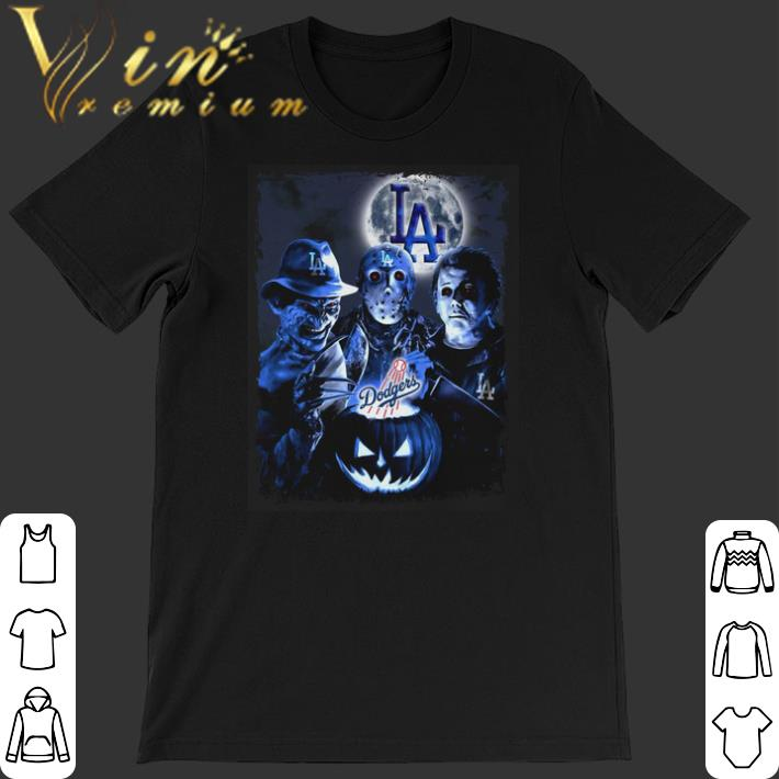 Pretty Los Angeles Dodgers Horror film characters shirt