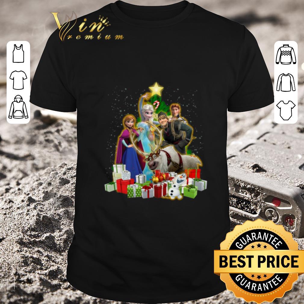 Nice Disney Frozen characters Christmas tree shirt