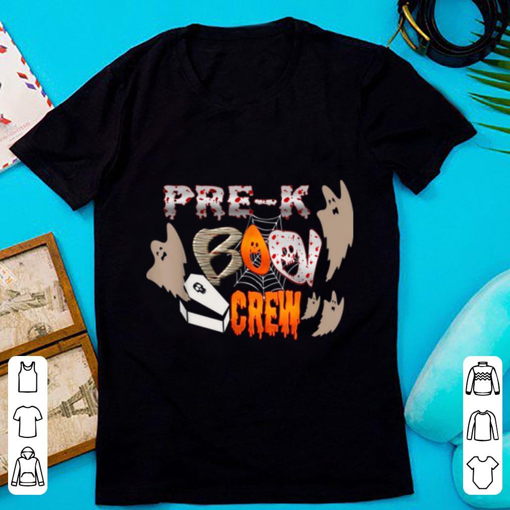 Original Halloween Pre-k Boo Crew Gift Teachers Kids shirt