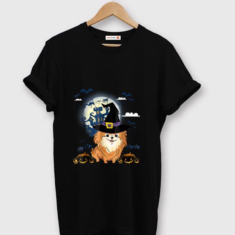 Original Happy Halloween Little Witch Pomeranian Dog Lovers shirt