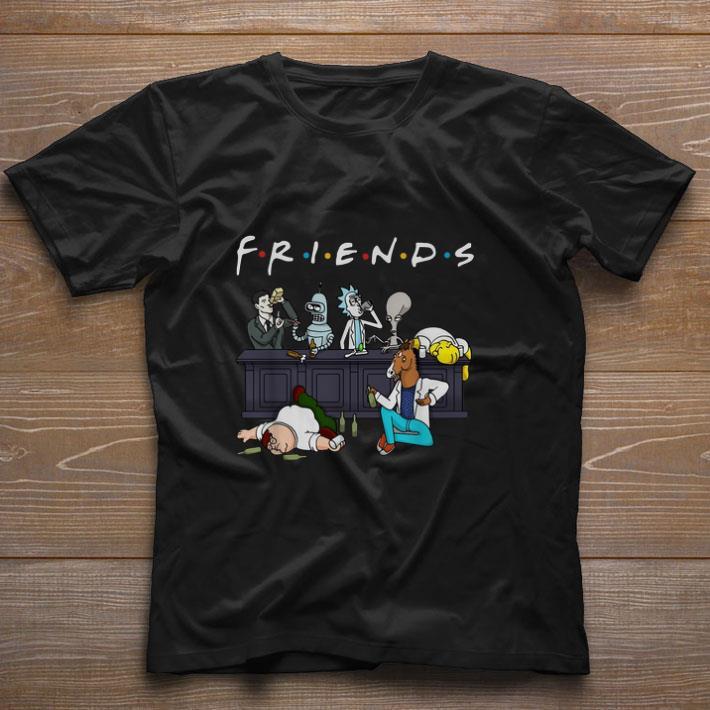 Pretty Cartoon Characters Netflix Friends Tv Series shirt
