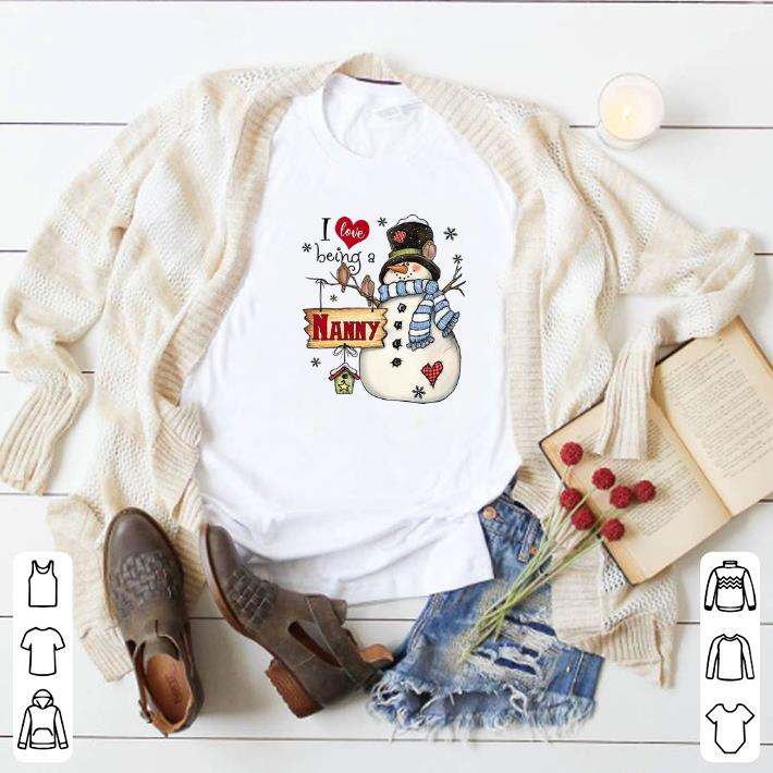 Hot Snowman I love being a NANNY Christmas shirt