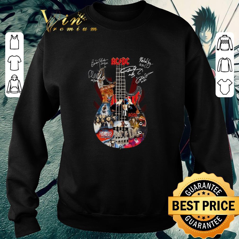 Official ACDC Guitarist Signatures shirt