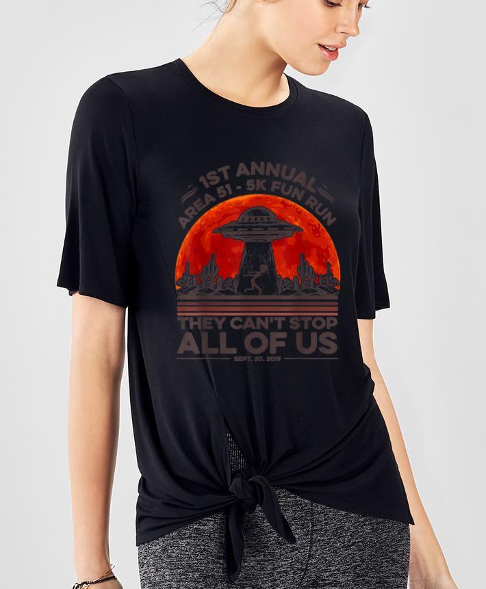 Premium Alien UFO 1st Annual Area 51 5k Fun Run Halloween Costume shirt