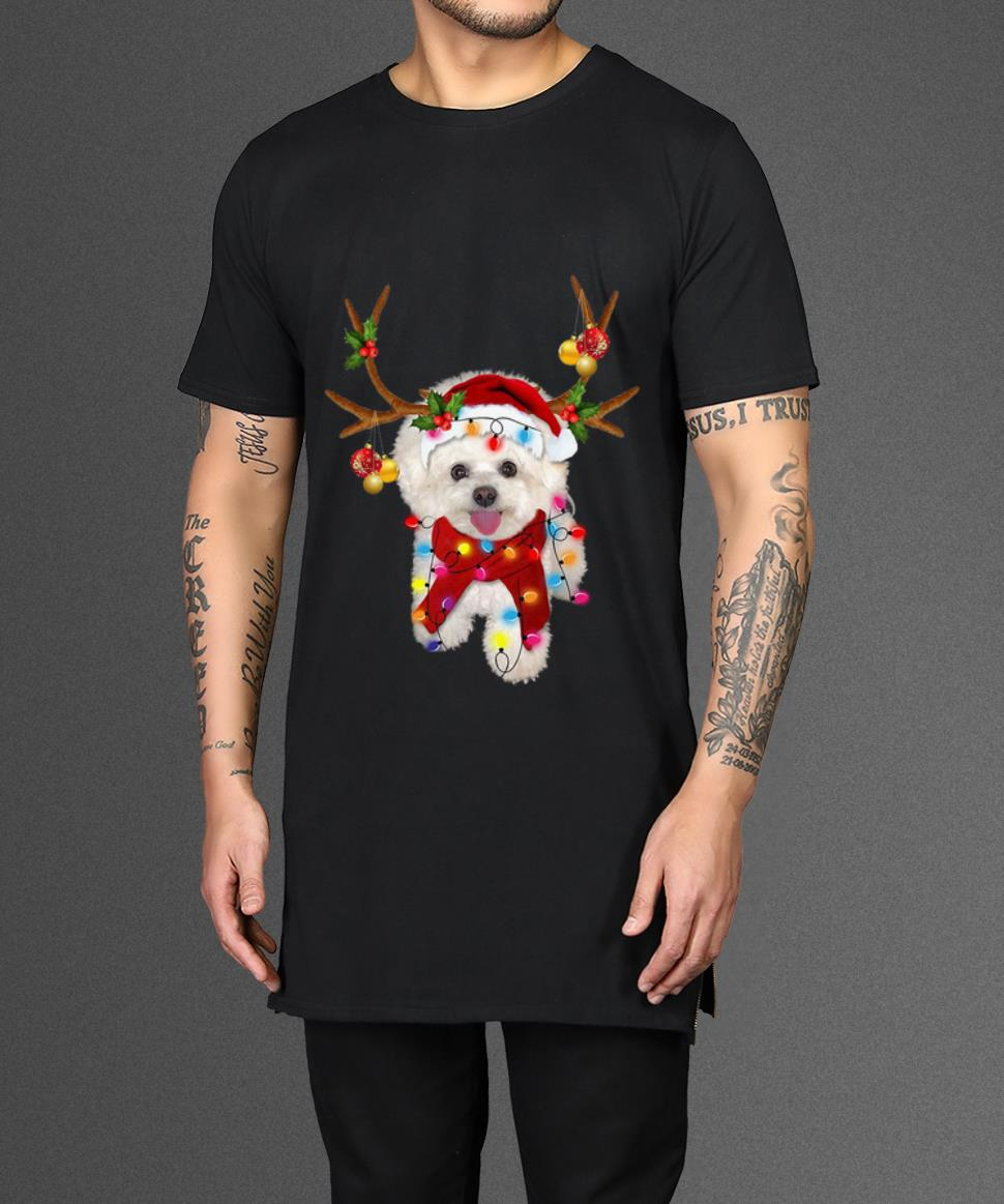 Beautiful Bichon Frise Gorgeous Reindeer Christmas Shirt 2 1.jpg