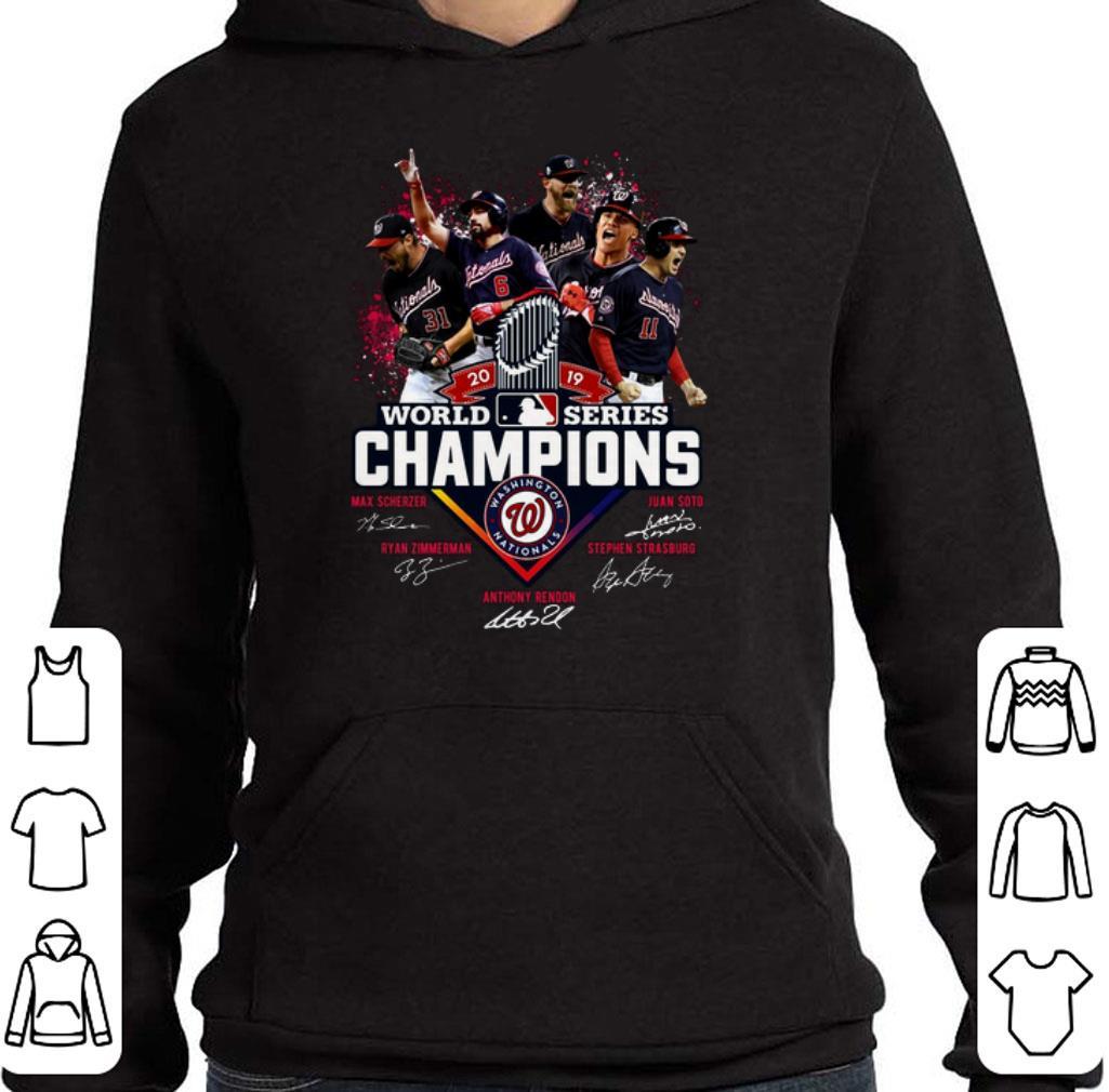 Original 2019 world series champions Nationals Max Scherzer Juan Soto shirt
