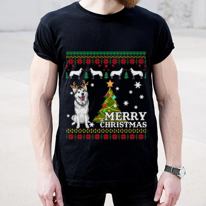 Top Siberian Husky Ugly Sweater Merry Christmas shirt