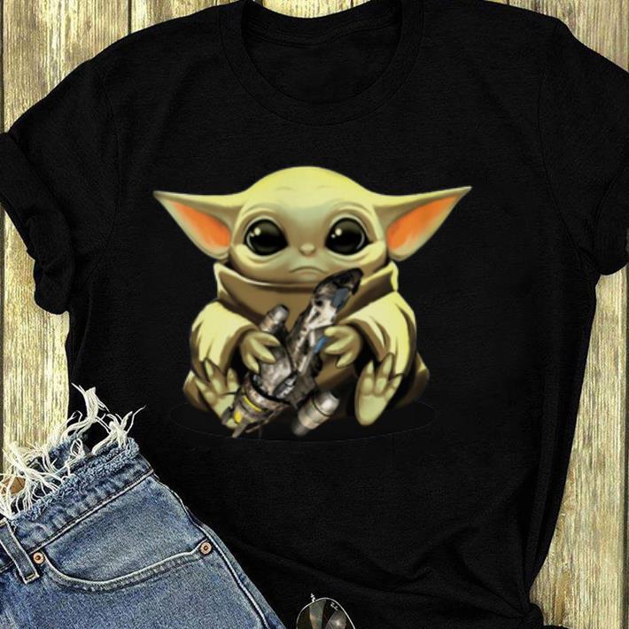 Top Baby Yoda Hug Combat Aircrafts shirt